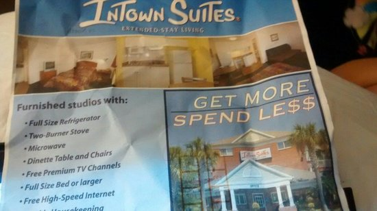 InTown Suites Newport News North: This is a brochure at the front desk I asked were are these room cause there not at this hotel s