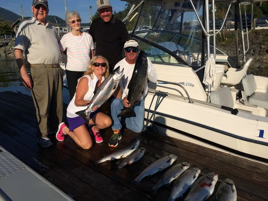 Salty Dog Fishing Charters: Salmon for Dinner tonight!!