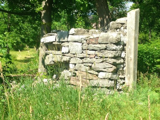 Bobcaygeon, Canada: Ruins of wall around the old manor house