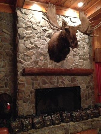 Fireplace in Trophy Lodge