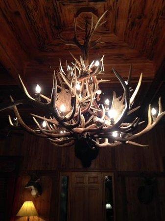 Chandelier in Trophy Lodge