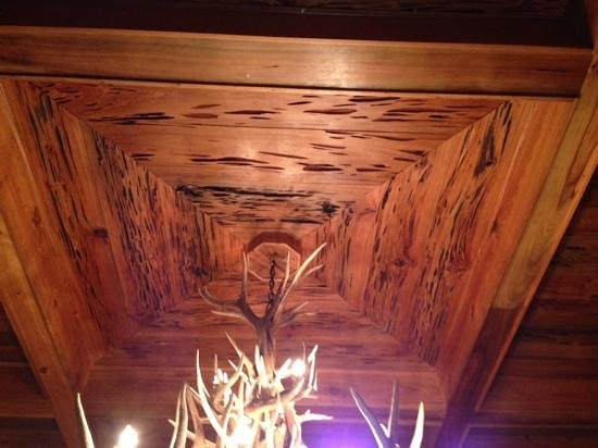 Ceiling in Trophy Lodge