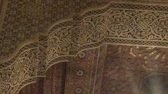 Riad Layalina Fes : Ceiling above the breakfast nook