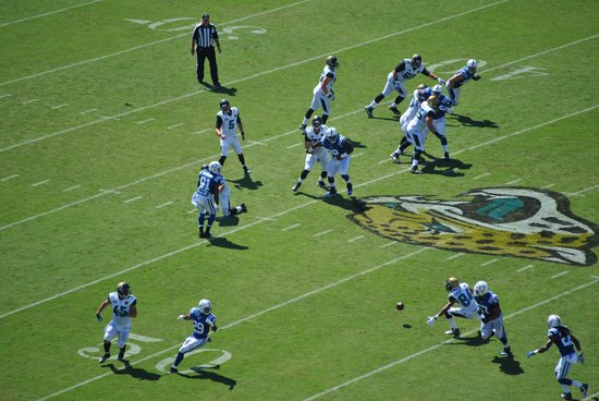 EverBank Field: Jaguars in action. View from the 400 level