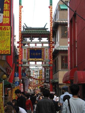 Yokohama Chinatown: 中華街の人混み