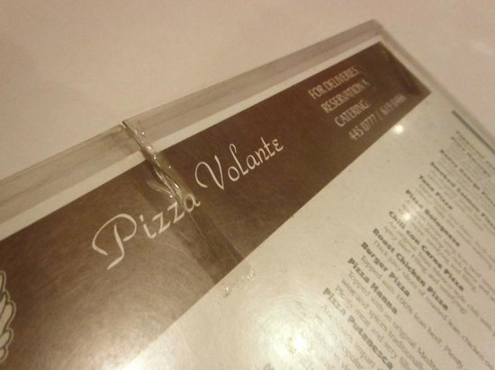 Pizza Volante: menu