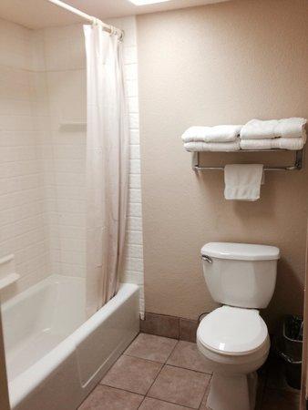 Anaheim Carriage Inn: トイレとお風呂。きれいだったし水はけよかった