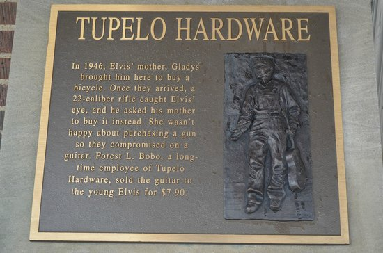 Tupelo Hardware Company: Tupelo Hardware plaque