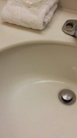La Quinta Inn & Suites Oklahoma City Norman: Hair in sink