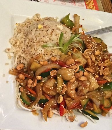 Golden Harvest Restaurant: Kung Pao scallops and shrimp