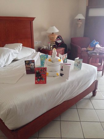 Birthday cake towel art Picture of Coral Sea Waterworld Resort