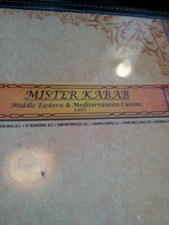 Mister Kabab: Menu