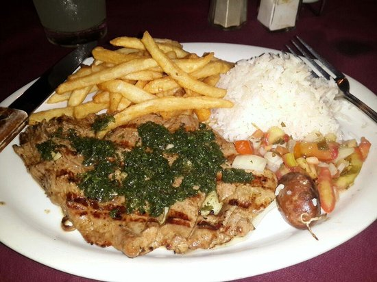 Don Parrillon: Churrasco de 8onz! Delicioso!