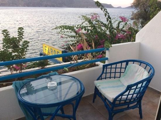 Faros Hotel: balconcino della camera n. 5 al 1 piano