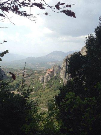 Agios Nikolaos Anapaphsas: View from Roussanou