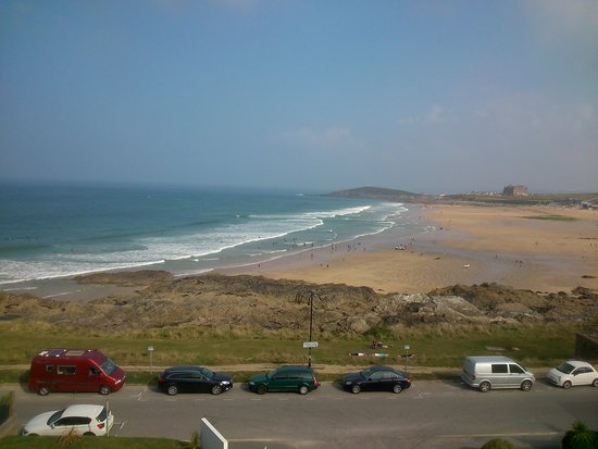 Fistral Beach Hotel and Spa: View from balcony