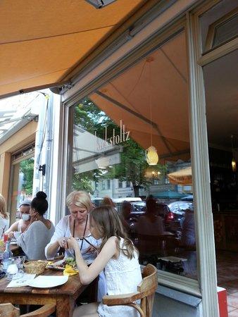Backstoltz: Nice little cafe, we seated outside, unfortunately it rained