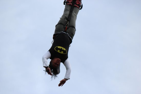 Agroventures Adventure Park: Batman is actually a girl #realsies ���� Who said Batman couldn't fly.  #motivationtojump