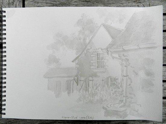 Domaine de la Juranvillerie: croquis de la Juranvillerie  - maison plus un gite