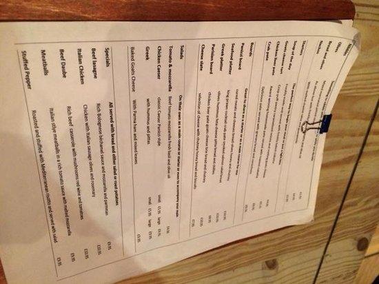 Panizzi: The strange menu!