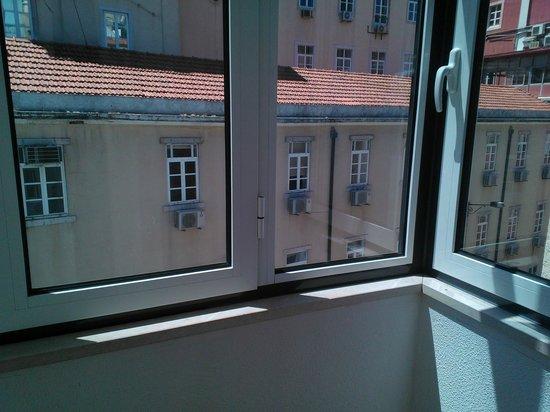 Hotel Portuense: Vista desde el ventanal