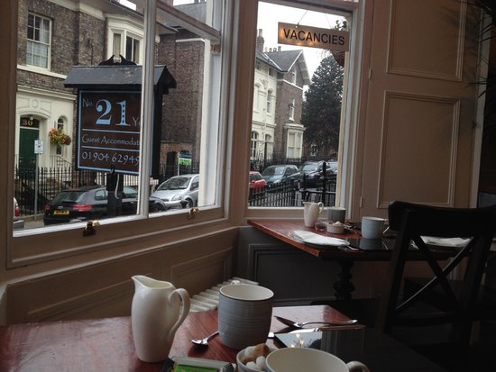 No. 21 York: View from the breakfast dining room.