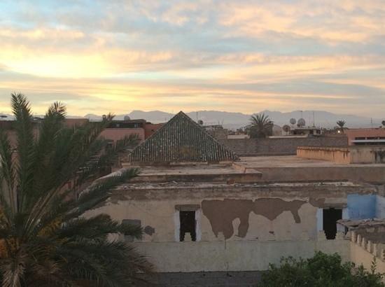 Riad Dar Zaman : view from the roof to the Atlas Mountains