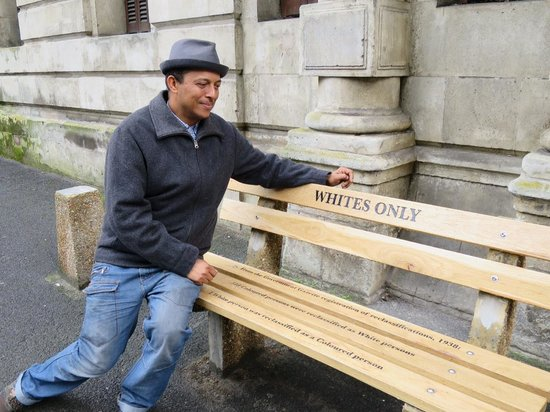 Cape Town Free Walking Tours: A very poignant picture of Rico outside Cape High Court