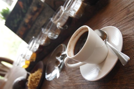Bali Pulina Agro Tourism: The famous Luwak coffee in a white cup