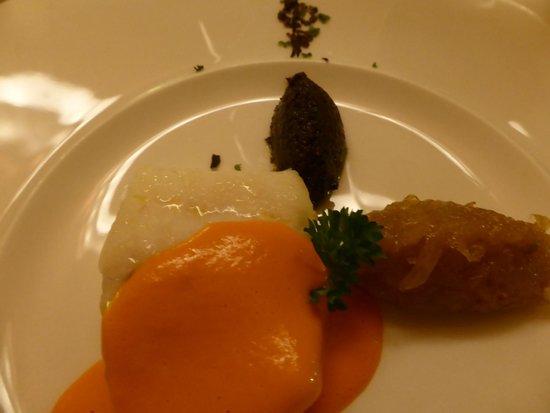 Ristorante Al Portone: Turbot, sauce au poivron