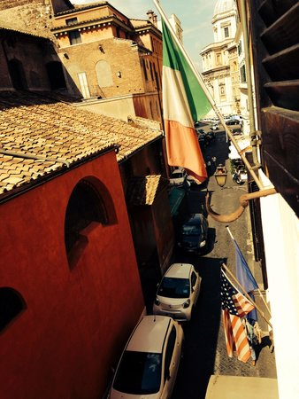 Hotel Santa Prassede: View from our room
