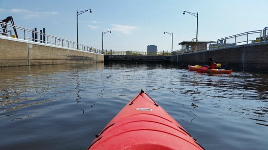 Above the Falls Sports: One of the locks  on the river