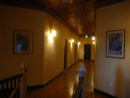 Holly, CO: Hallway with copper tin ceiling