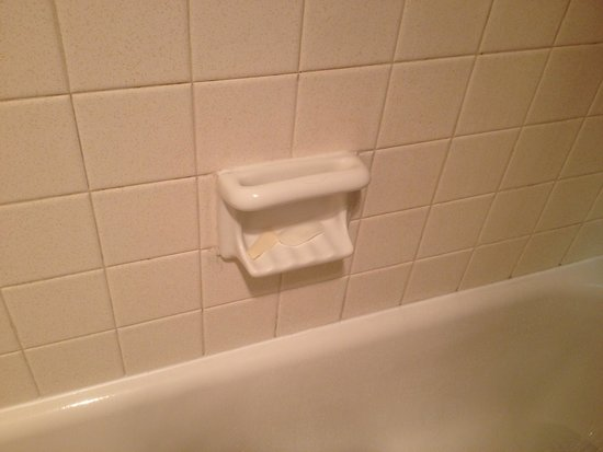 Red Roof Inn Cincinnati Airport: Soap left in the soap holder from previous guest.