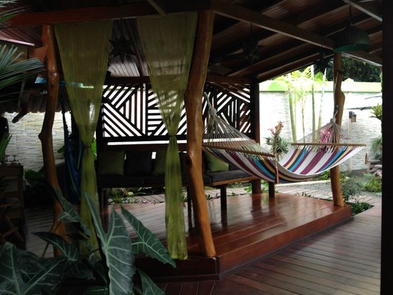 Physis Caribbean Bed & Breakfast : Nice relaxing area with hammocks