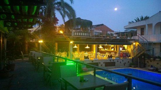 Ambassador Plaza Hotel : Widok na bar przy basenie