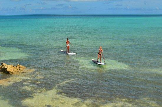 Daniel's Head Park: Paddle boarding at Daniel's Head Beach