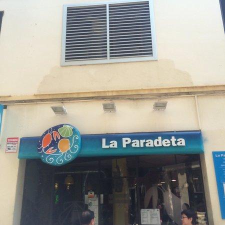 La Paradeta Sagrada Familia: 入り口。
