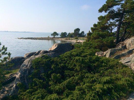 Dzika plaża sandhamn po drugiej stronie wyspy. Cos wspaniałego.