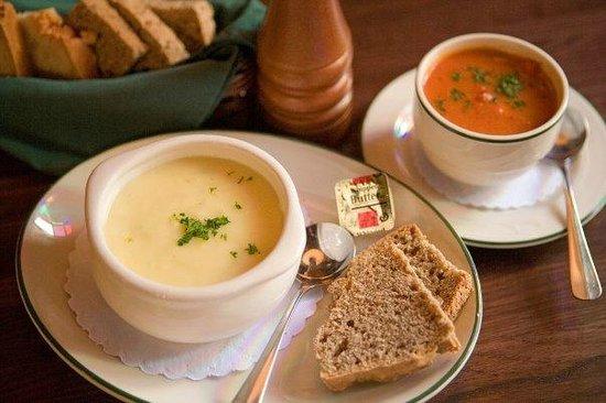 Killarney House Restaurant Leek And Potato Soup With Irish Soda Bread