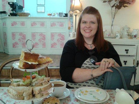 When the Clock Strikes 3: My Beautiful wife enjoying our anniversary tea...