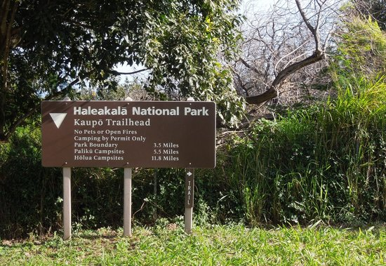 Haleakala National Park : Haleakala entrance Sign
