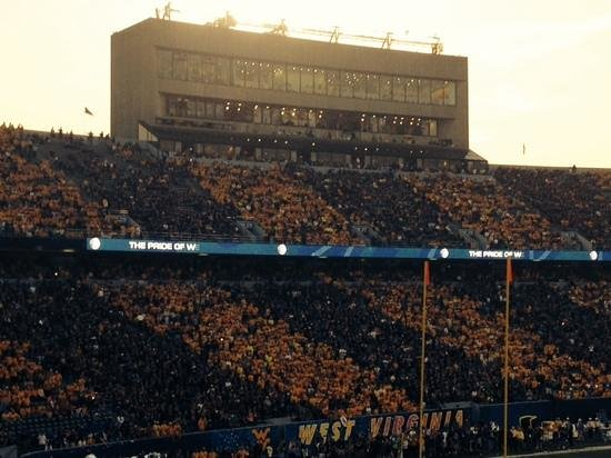 "Mountaineer Field: ""Stripe the Stadium"" at sunset - OU vs WVU"