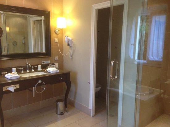 Chateau La Cheneviere: Bathroom was wonderful