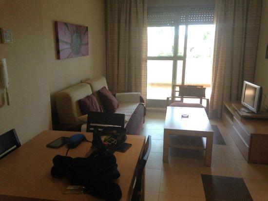 Marina Rey Apartamentos: Salón/Comedor/Habitación de sofá cama
