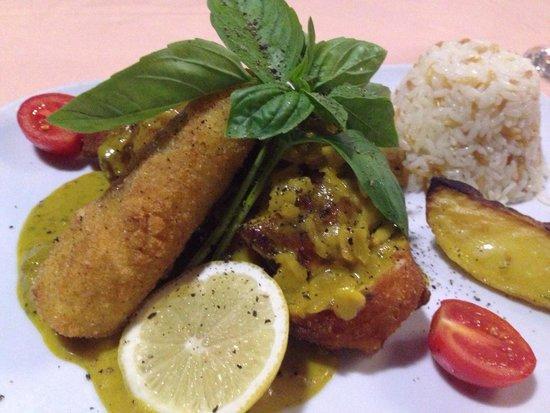 Amaretto chicken at Han restaurant Mmmmm must try it!
