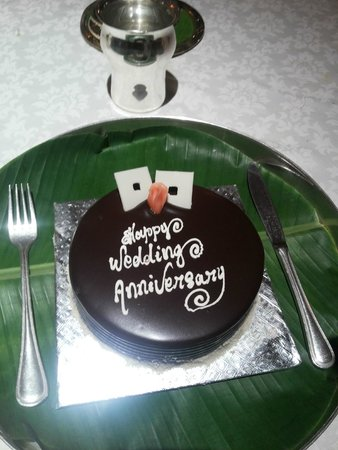 Dakshin : Our special anniversary cake....