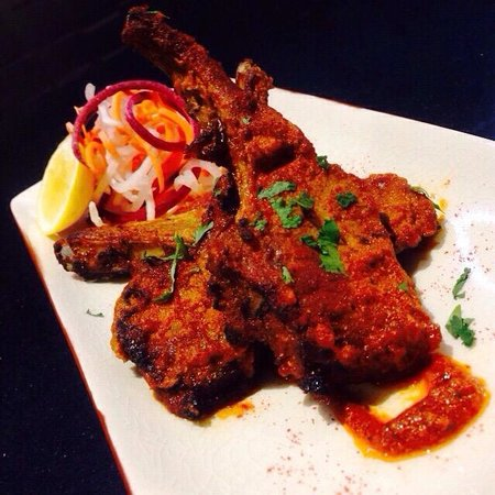 Fire & Spice Bar & Kitchen: Masala Lamb Chops/@ Fire & Spice Only.