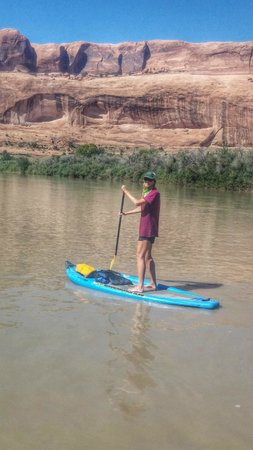 Canyon Voyages Adventure Co - Day Tours: calm water paddle on Colorado river north of Moab w/Canyon Voyages