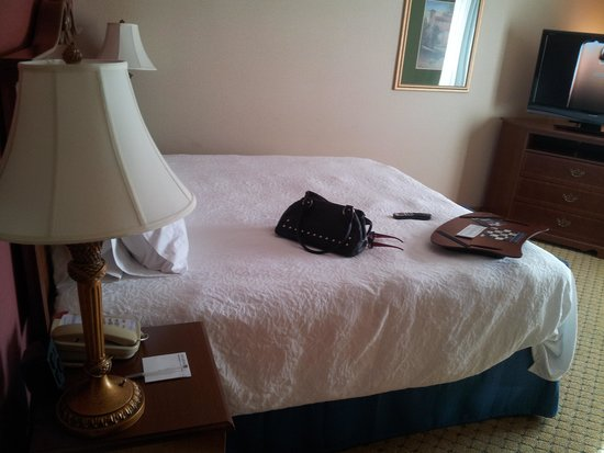 Hampton Inn & Suites Pittsburg: King Sized bed